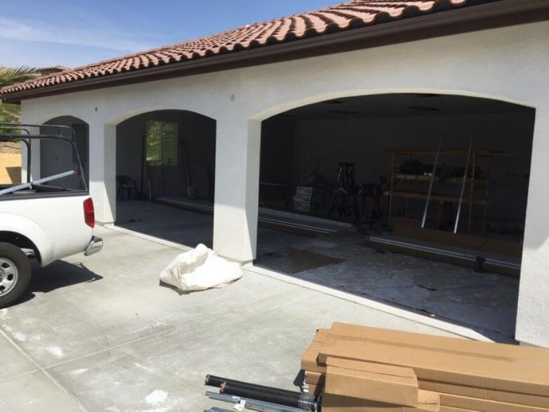 Custom Wood Garage Doors Before